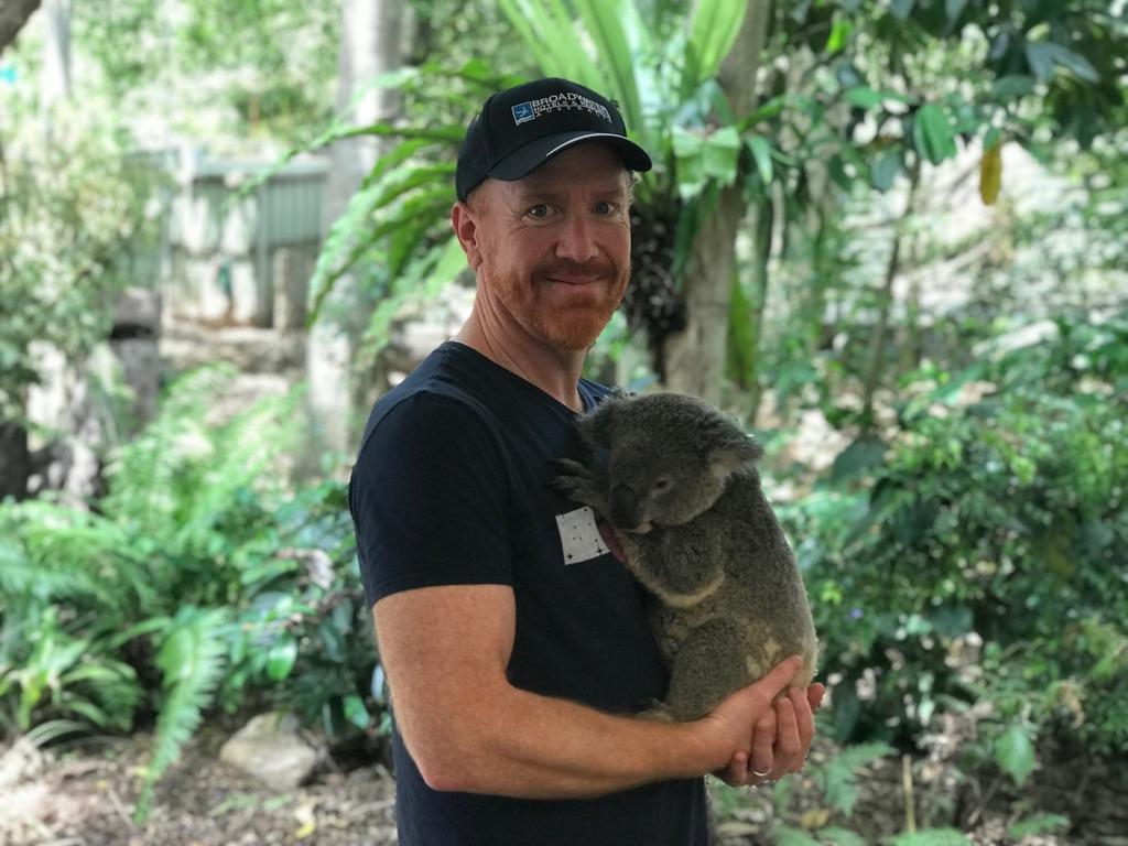 Mike with Koala