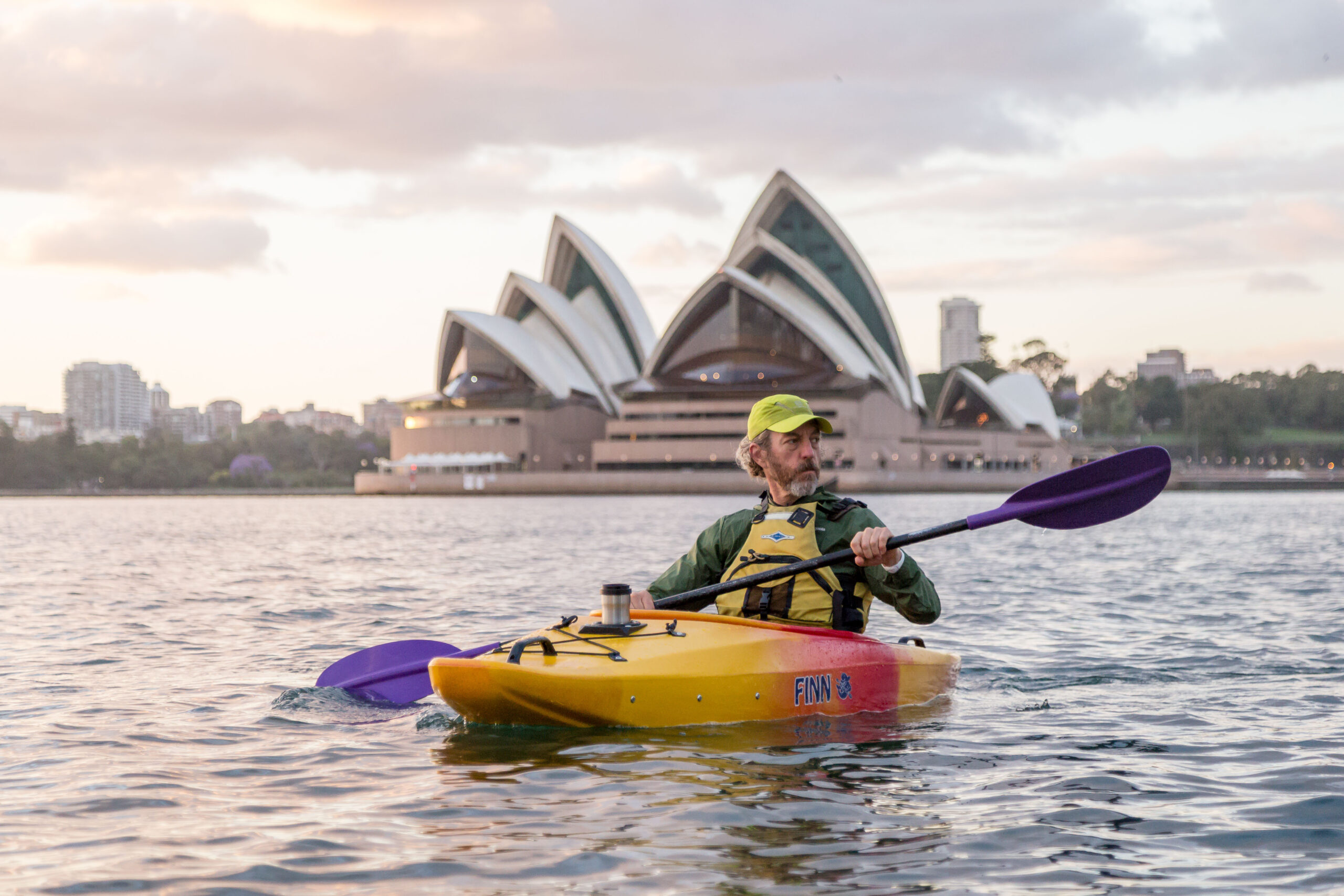 Jeff kayaking in Sydney